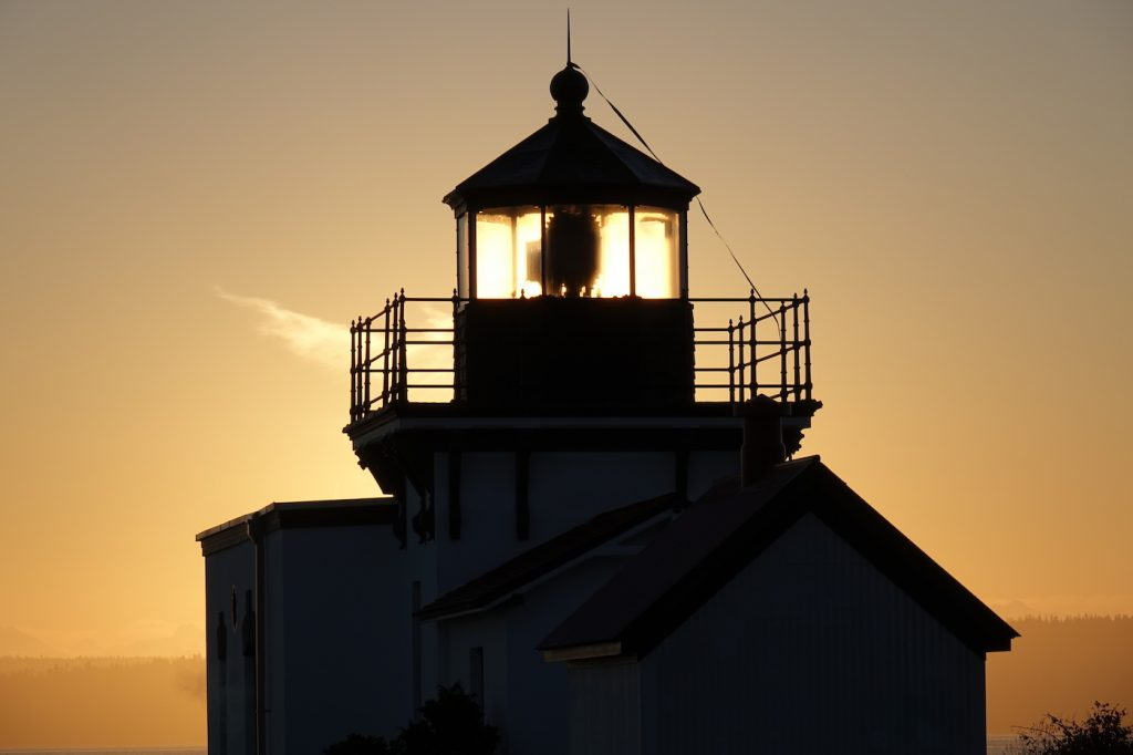 Lighthouse lighted by Sun - Wes Carlson photo
